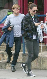 Ridley out with long-term boyfriend Charlie Hamblett.