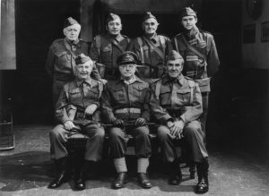 In the family Ridley's great-uncle was Arnold Ridley (back row, far left) who played Private Godfrey in Dad's Army.