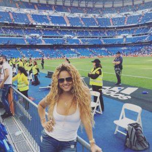 At the Bernabeu But where is Ronaldo? Liza Hernandez Instagram